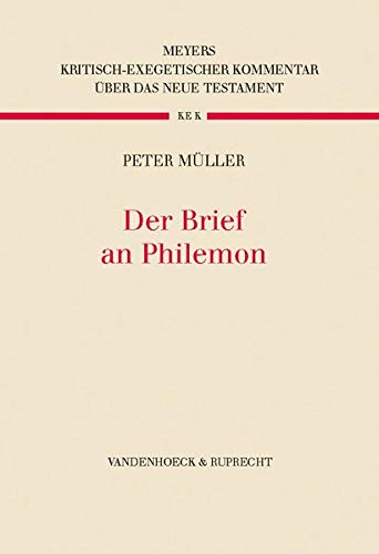 Der Brief an Philemon: Peter Müller