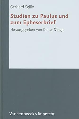 9783525530931: Studien zu Paulus und zum Epheserbrief (Forschungen zur Religion und Literatur des Alten und Neuen Testaments)