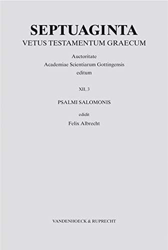 9783525534502: Psalmi Salomonis