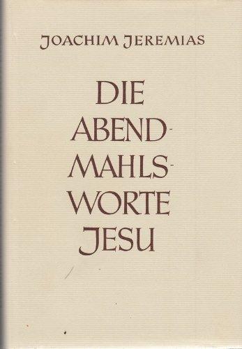 9783525535134: Die Abendmahlsworte Jesu
