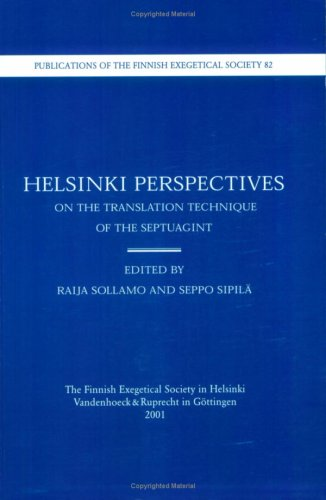 9783525536209: Helsinki Perspectives on the Translation Technique of the Septuagint: Proceedings of the IOSCS Congress in Helsinki 1999