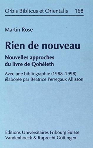 Rien de nouveau: Nouvelles approches du livre: Rose, Martin: