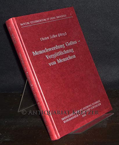9783525539064: Menschwerdung Gottes - Vergottlichung Von Menschen (Novum Testamentum Et Orbis Antiquus) (German Edition)