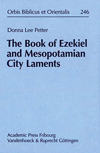 9783525543672: The Book of Ezekiel and Mesopotamian City Laments (Orbis Biblicus Et Orientalis)