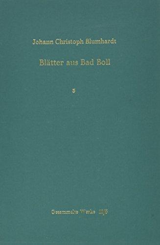 9783525556481: Blatter aus Bad Boll, Band 3 (BLUMHARDT, GESAMMELTE WERKE REIHE II: VERKUNDIGUNG)