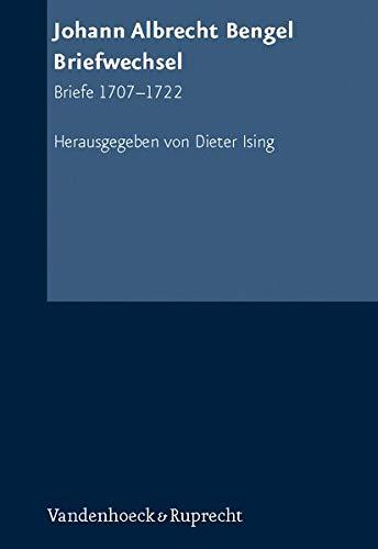Johann Albrecht Bengel, Briefwechsel 1: Dieter Ising