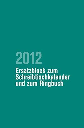9783525652503: Pfarrerkalender/Pfarrerinnenkalender Ersatzblock 2012