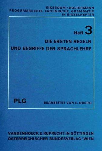 PLG:Heft 3 Die ersten Regeln u.Begriffe Der