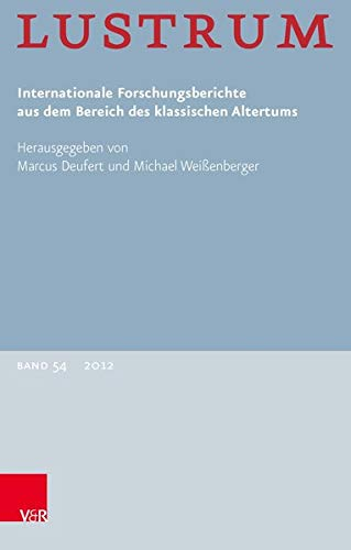 9783525802106: Lustrum Band 54 - 2012