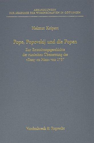Pope, Popovskij und die Popen: Zur Entstehungsgeschichte: Keipert, Helmut