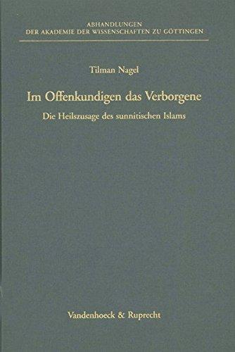 Im Offenkundigen das Verborgene: Tilman Nagel