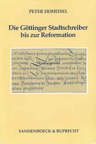 Die Göttinger Stadtschreiber bis zur Reformation: Hoheisel, Peter