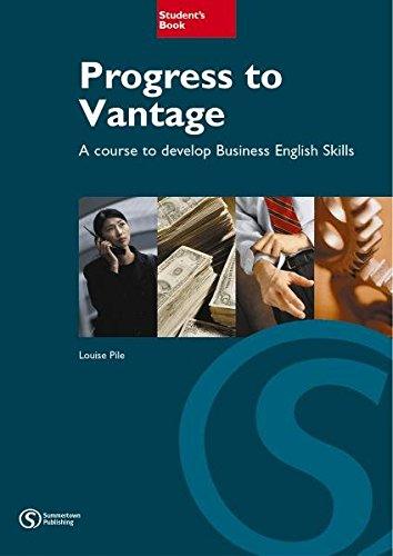 9783526511410: Progress to Vantage. Student's Book: Developing Business English Skills at Intermediate level