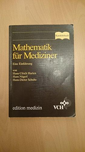 9783527153138: Mathematik f�r Mediziner