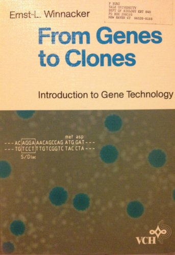 9783527261994: From Genes to Clones: Introduction to Gene Technology