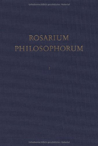 9783527266814: Rosarium Philosophorum Ein Alchemisches Florilegium DES Faksimile Der Illustrierten Erstausgabe Frankfurt 1550 V 1