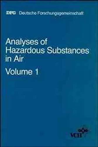 9783527270156: Analyses of Hazardous Substances in Air: v. 1