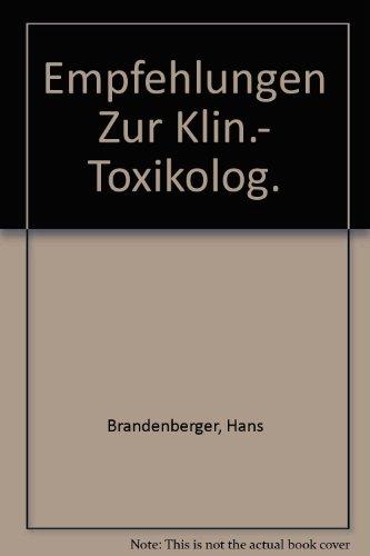 Einsatz der Gaschromatographie in der klinisch-toxikologischen Analytik.: Brandenberger, Hans, Gottfried