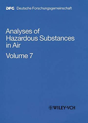 Analyses of Hazardous Substances in Air: Volume: Antonius Kettrup