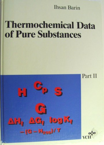 9783527278121: Thermochemical Data of Pure Substances