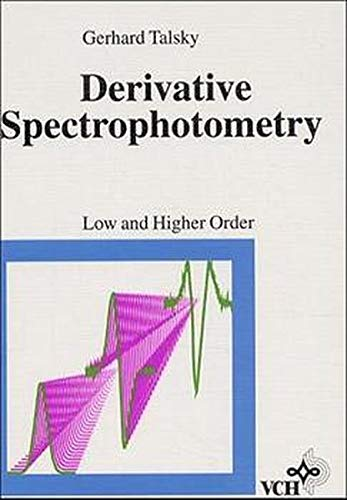 Derivative Spectrophotometry of First and Higher Orders: Gerhard Talsky