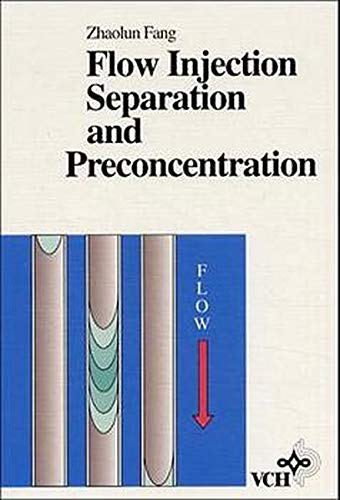 9783527283088: Flow Injection Separatation and Preconcentration