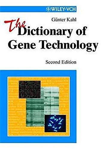 9783527301003: The Dictionary of Gene Technology: Genomics, Transcriptomics, Proteomics
