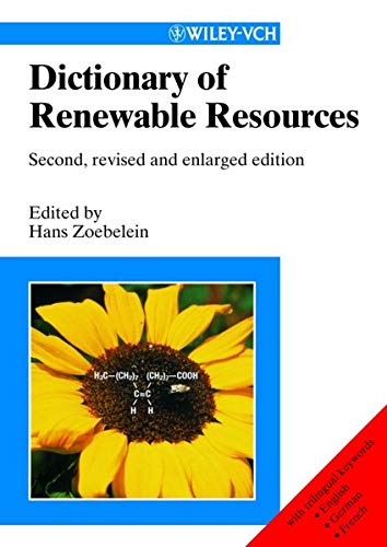 9783527301140: Dictionary of Renewable Resources