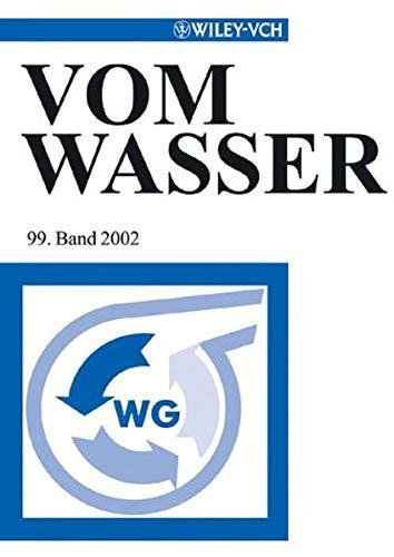 9783527305605: Vom Wasser Band 99 2002