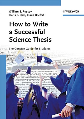 9783527312986: How to Write a Successful Science Thesis