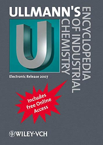 9783527316021: Ullmann's Encyclopedia of Industrial Chemistry, Electronic Release 2007