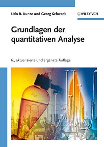 9783527320752: Grundlagen Der Quantitativen Analyse (German Edition)