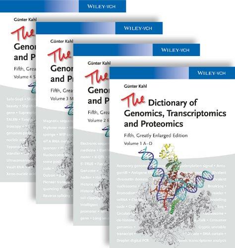 9783527328529: The Dictionary of Genomics, Transcriptomics and Proteomics