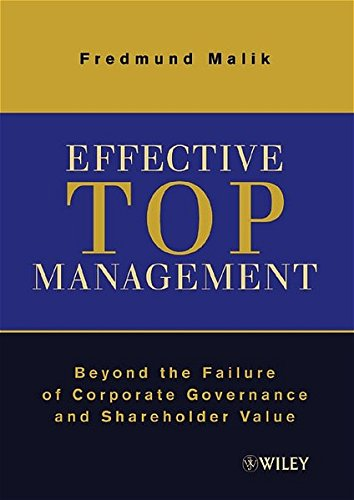 9783527501175: Effective Top Management