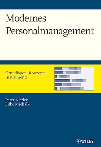 9783527502721: Modernes Personalmanagement: Grundlagen, Konzepte, Instrumente