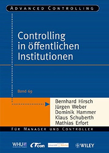 9783527504435: Controlling in öffentlichen Institutionen (Advanced Controlling)