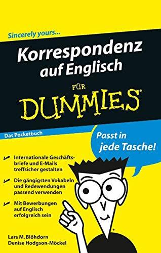 9783527707171: Blöhdorn, L: Korrespondenz Englisch für Dummies/Pockuch (Fur Dummies)
