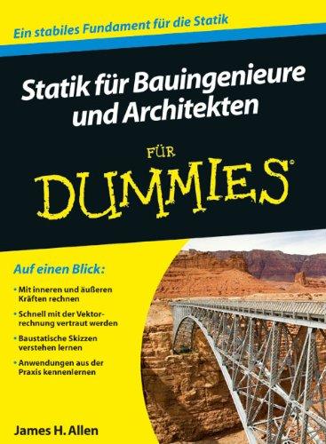 9783527707621: Statik Fur Bauingenieure Und Architekten Fur Dummies