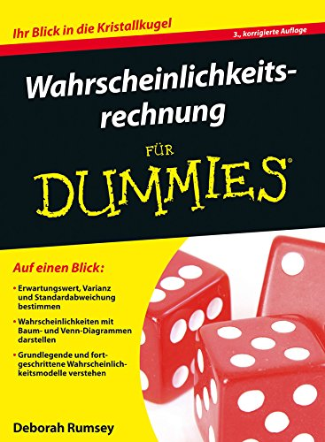 9783527713257: Wahrscheinlichkeitsrechnung fur Dummies