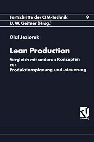 9783528065331: Lean Production: Vergleich Mit Anderen Konzepten Zur Produktionsplanung Und -steuerung