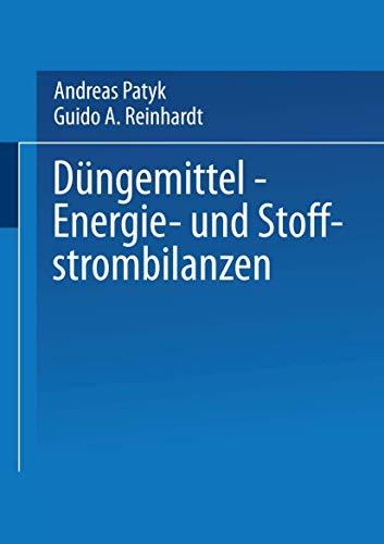 9783528068851: Düngemittel ― Energie- und Stoffstrombilanzen (German Edition)