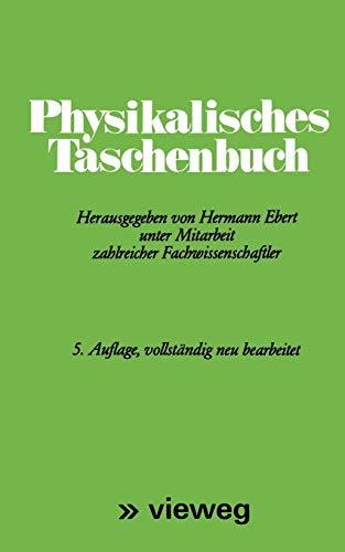 9783528082079: Physikalisches Taschenbuch (German Edition)