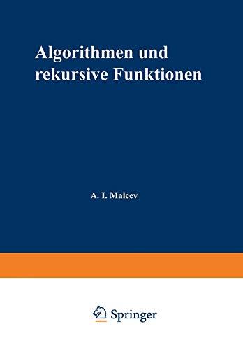 Algorithmen Und Rekursive Funktionen: Anatolij I Mal'cev