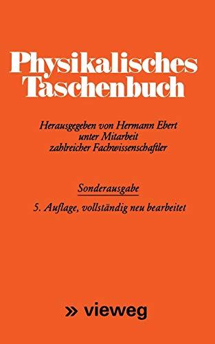 9783528084172: Physikalisches Taschenbuch (German Edition)