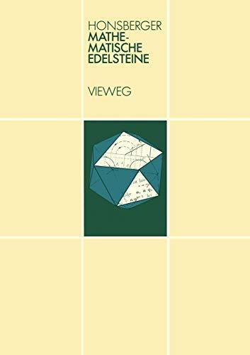 9783528084745: Mathematische Edelsteine: der elementaren Kombinatorik, Zahlentheorie und Geometrie