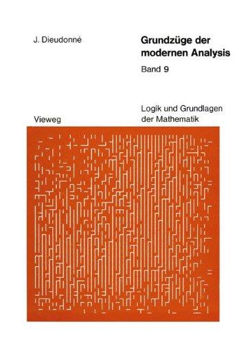 9783528085490: Grundz�ge der modernen Analysis: Band 9