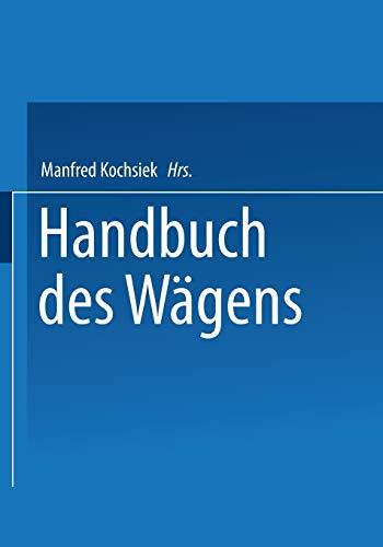 9783528085728: Handbuch des Wägens (German Edition)