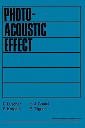 9783528085735: Photoacoustic Effect: Principles And Applications