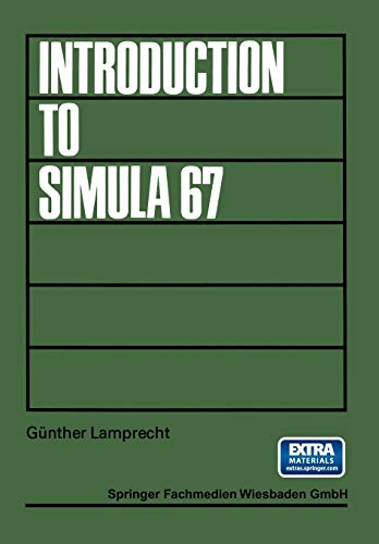 9783528133405: Introduction to Simula 67