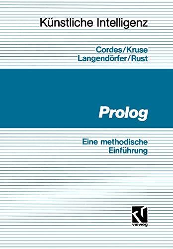 9783528145842: Prolog: Eine methodische Einführung (Künstliche Intelligenz)